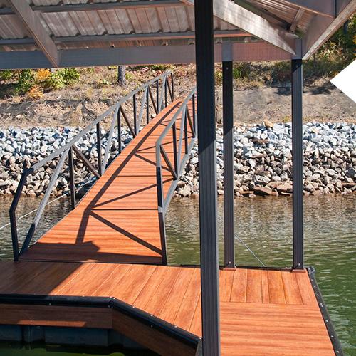 Aluminum dock posts