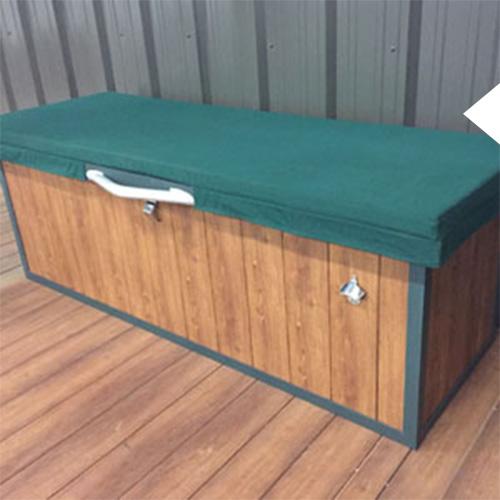 Deck Box on a custom luxury dock