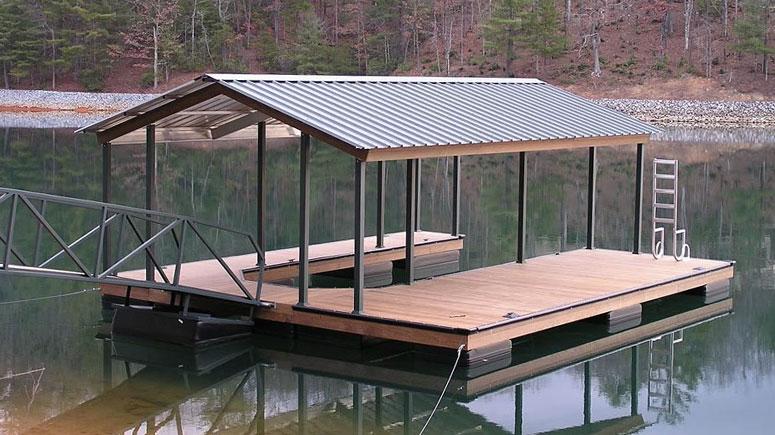 brand new boat dock on lake keowee
