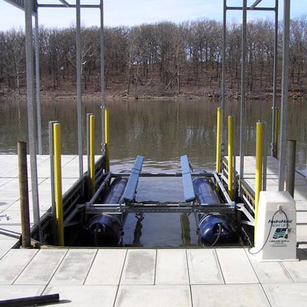 Ryan O Dock Rollers on lake boat dock